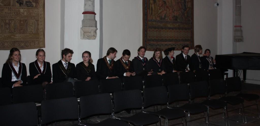 Bij de inauguratie van Arnoud Visser